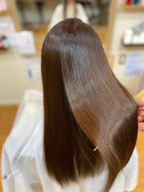 髪のケアを!
